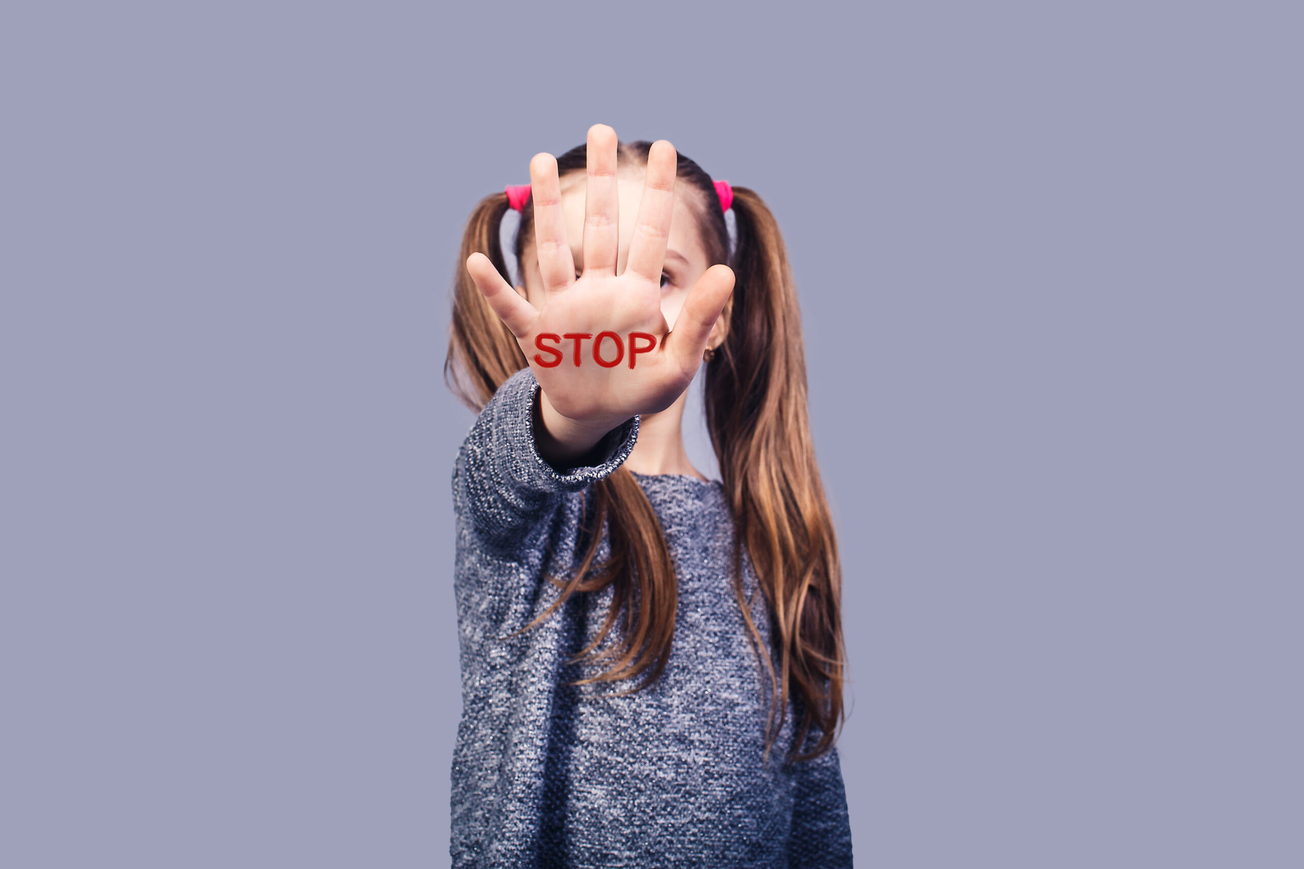 concept stop child abuse